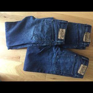 3 pairs diesel jeans